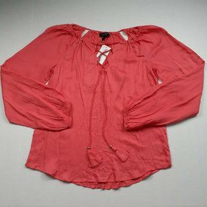 Jessica Simpson Coral Peasant Top Size XS